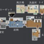 ひとりかくれんぼ部屋全体マップ